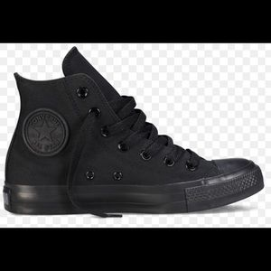 Black converse high top sneakers